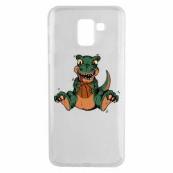 Чехол для Samsung J6 Dinosaur and basketball