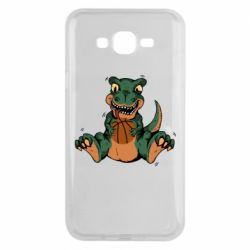 Чехол для Samsung J7 2015 Dinosaur and basketball