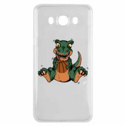 Чехол для Samsung J7 2016 Dinosaur and basketball