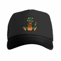 Кепка-тракер Dinosaur and basketball
