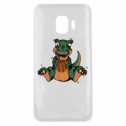 Чехол для Samsung J2 Core Dinosaur and basketball