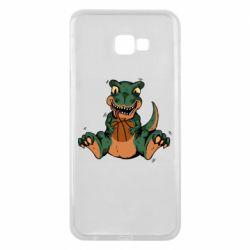 Чехол для Samsung J4 Plus 2018 Dinosaur and basketball