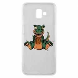 Чехол для Samsung J6 Plus 2018 Dinosaur and basketball