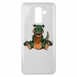 Чехол для Samsung J8 2018 Dinosaur and basketball
