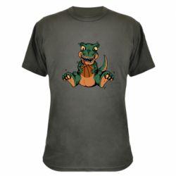 Камуфляжная футболка Dinosaur and basketball