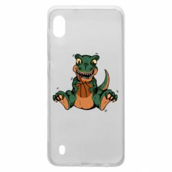 Чехол для Samsung A10 Dinosaur and basketball
