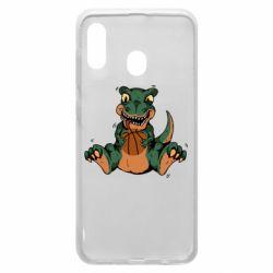 Чехол для Samsung A20 Dinosaur and basketball