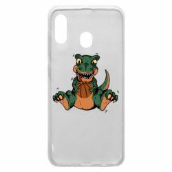 Чехол для Samsung A30 Dinosaur and basketball