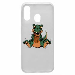 Чехол для Samsung A40 Dinosaur and basketball