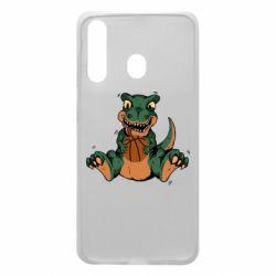 Чехол для Samsung A60 Dinosaur and basketball