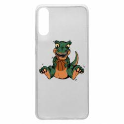 Чехол для Samsung A70 Dinosaur and basketball