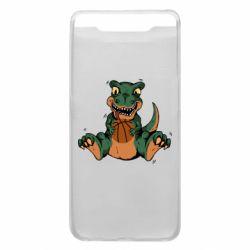 Чехол для Samsung A80 Dinosaur and basketball