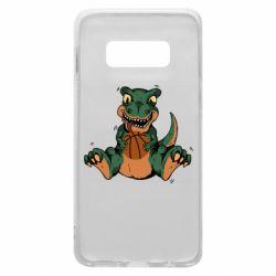 Чехол для Samsung S10e Dinosaur and basketball