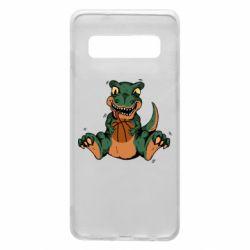 Чехол для Samsung S10 Dinosaur and basketball