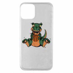 Чехол для iPhone 11 Dinosaur and basketball