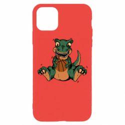 Чехол для iPhone 11 Pro Dinosaur and basketball