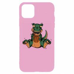 Чехол для iPhone 11 Pro Max Dinosaur and basketball