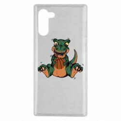 Чехол для Samsung Note 10 Dinosaur and basketball