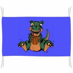 Флаг Dinosaur and basketball