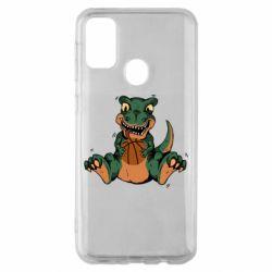 Чехол для Samsung M30s Dinosaur and basketball