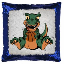 Подушка-хамелеон Dinosaur and basketball