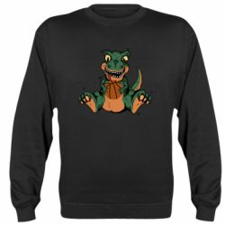 Реглан (свитшот) Dinosaur and basketball