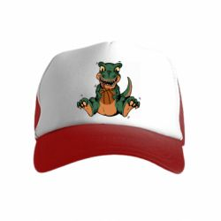 Детская кепка-тракер Dinosaur and basketball