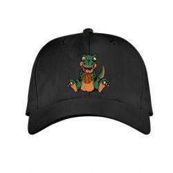 Детская кепка Dinosaur and basketball