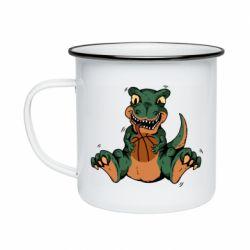 Кружка эмалированная Dinosaur and basketball