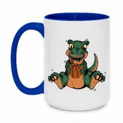 Кружка двухцветная 420ml Dinosaur and basketball