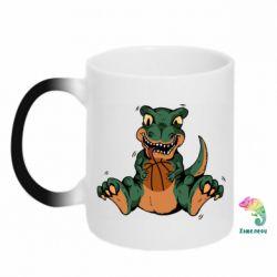 Кружка-хамелеон Dinosaur and basketball