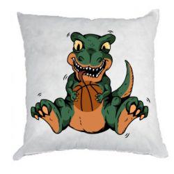 Подушка Dinosaur and basketball