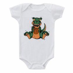 Детский бодик Dinosaur and basketball