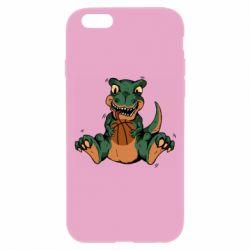 Чехол для iPhone 6 Plus/6S Plus Dinosaur and basketball