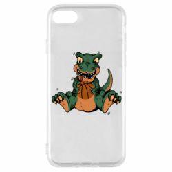 Чехол для iPhone 7 Dinosaur and basketball