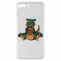 Чехол для iPhone 7 Plus Dinosaur and basketball