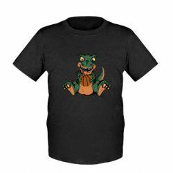 Детская футболка Dinosaur and basketball