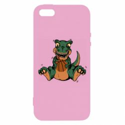 Чехол для iPhone5/5S/SE Dinosaur and basketball