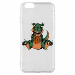 Чехол для iPhone 6/6S Dinosaur and basketball
