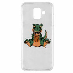 Чехол для Samsung A6 2018 Dinosaur and basketball