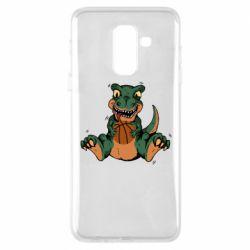Чехол для Samsung A6+ 2018 Dinosaur and basketball