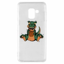 Чехол для Samsung A8 2018 Dinosaur and basketball