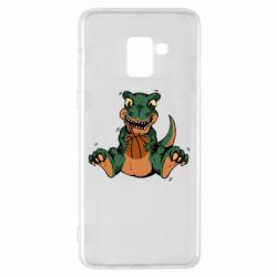 Чехол для Samsung A8+ 2018 Dinosaur and basketball