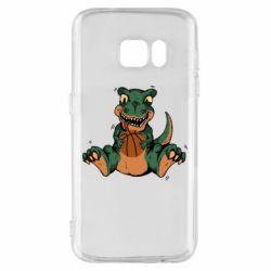 Чехол для Samsung S7 Dinosaur and basketball