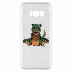 Чехол для Samsung S8 Dinosaur and basketball