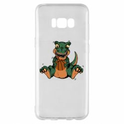 Чехол для Samsung S8+ Dinosaur and basketball