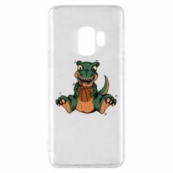 Чехол для Samsung S9 Dinosaur and basketball