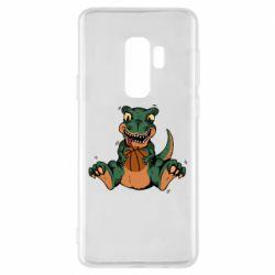 Чехол для Samsung S9+ Dinosaur and basketball