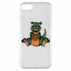 Чехол для iPhone 8 Dinosaur and basketball