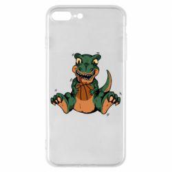 Чехол для iPhone 8 Plus Dinosaur and basketball